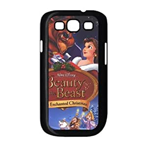 La bella y la bestia laencantadora Samsung Galaxy S3 9300 Cell Phone Navidad negro A1780199