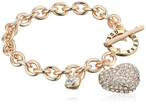 Women's Toggle Line Bracelet with Stones, Rose Gold, One Size ()