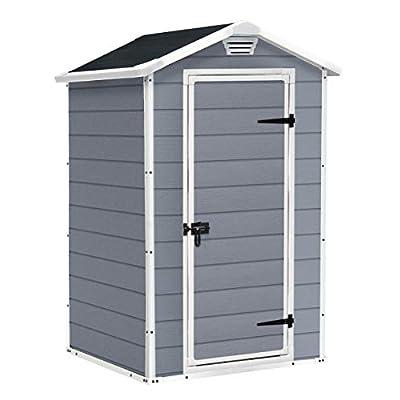 Keter-Manor-Outdoor-Plastic-Garden-Storage-Shed-Grey-4-x-3-ft