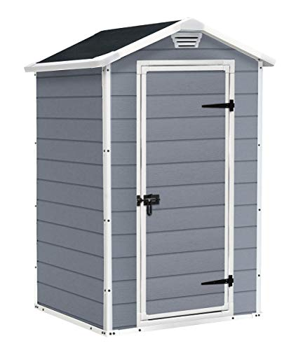 Keter-Manor-Outdoor-Plastic-Garden-Storage-Shed-Grey-4-x-3-ft