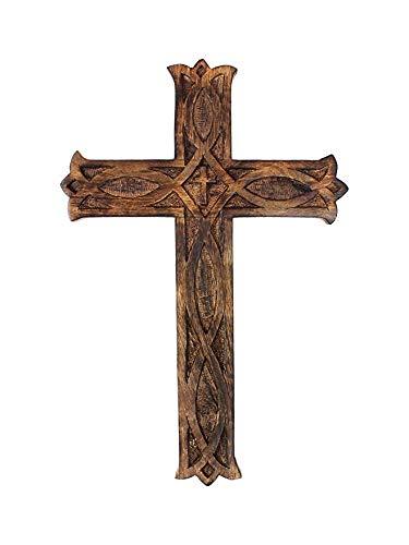 S.B.ARTS Wooden Wall Cross Plaque 8