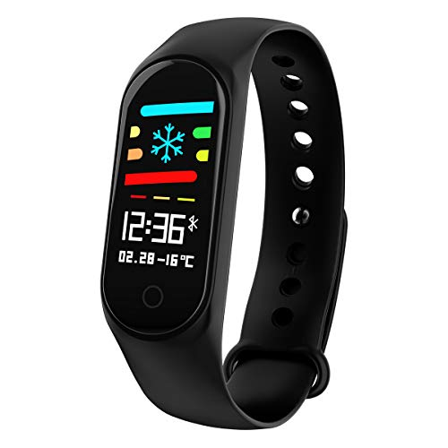 Fitness Tracker KKCITE Wrist Activity Trackers Waterproof IP67 Smart Bracelet with Heart Rate Pedometer Calories Sleep Monitor Bracelet Mobile for Android and iOS (Black)