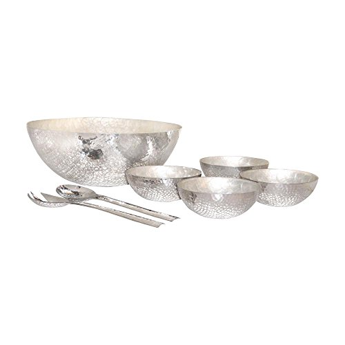 Reef Assorted Size Decorative Salad Bowl Set In Hammered Aluminum And Pearl 6 Piece Buy Online In Aruba At Aruba Desertcart Com Productid 40731287