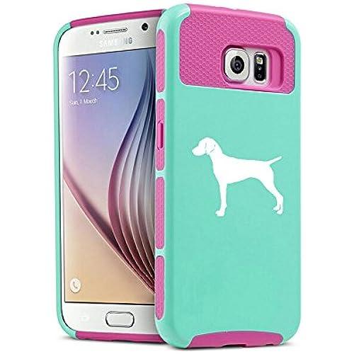 Samsung Galaxy S7 Shockproof Impact Hard Soft Case Cover Vizsla (Teal-Hot Pink) Sales