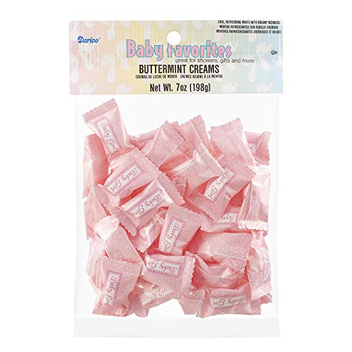 One Pack of 50 Piece It's a Girl Buttermints, 7 Ounce -