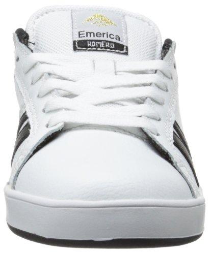 Emerica THE LEO 2 THE LEO 2-M - Zapatillas de skate de cuero para hombre Blanco (Blanc (White Black))