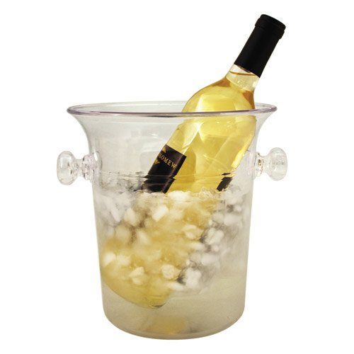 Clear Acrylic 1-Bottle Wine & Champagne Chiller Ice Bucket by True (One Bottle Wine Chiller)