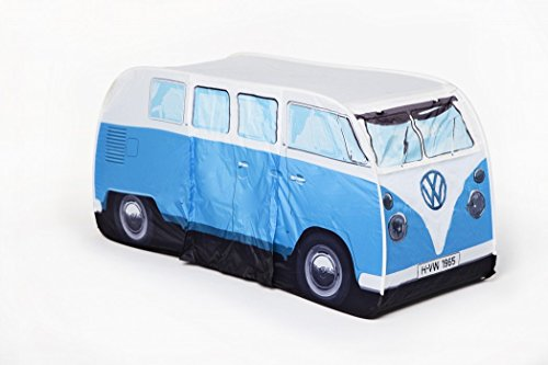 VW Volkswagen T1 Camper Van Kids Pop-Up Play Tent - Blue - Multiple Color Options Available (Childrens Factory Tunnel)
