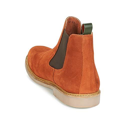 Rouge Damen Brique Boots Kickers Tyga Chelsea Rouge 6vwqwaX
