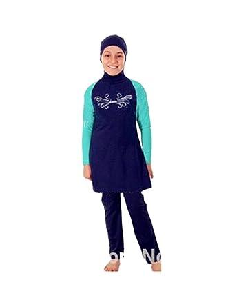 3721c86addf KXCFCYS Muslim Swimwear for Kid Girls Children Modest Islamic Hijab  Swimsuits Burkini