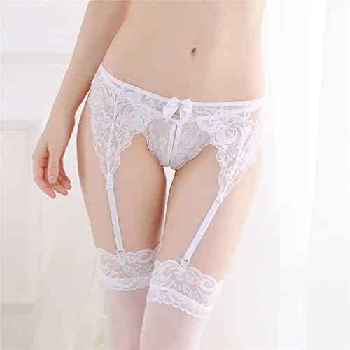 3182b00b3 Sexy Lace For Women Perspective Stretchy Thigh-Highs Garter Belt With  Butterfly Not Contain T