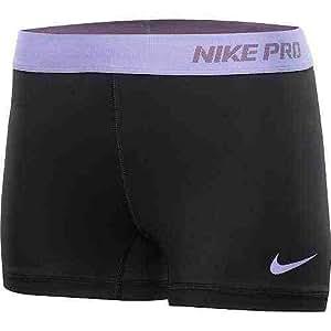 Nike Lady Pro Core Combat Shorts Black-Purple Band [M] Medium