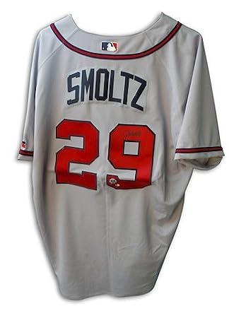 cheap for discount 8c3c2 8f42d John Smoltz Atlanta Braves Autographed Gray Jersey - APE COA ...