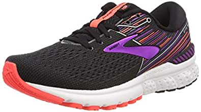 Brooks Women's Adrenaline GTS 19 Black/Purple/Coral 5 B US