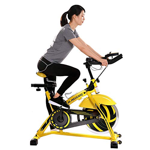 MaxKare Exercise Bike Stationary Indoor Cycling Bike Belt Drive with 44 LBS Flywheel/LCD Monitor for Home Use