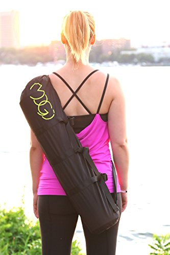 Cheap MOGI The World's First Yoga Mat Bag That Attaches To Your Bicycle, Perfect Size Fits Most Yoga Mats,Adjustable Shoulder Strap, Long-Lasting Durability (Black)