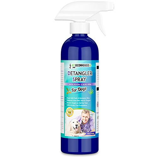 Vet Recommended - Dog Detangler Spray - Rejuvenate Coat and Remove Matts Using Our Dog Detangling Conditioner - Extracts of Jojoba and Aloe Vera - Made in USA (16oz/473ml)