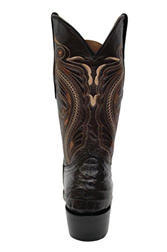 Cowboy Occidentali Polpaccio Indiana Stivali Cuoio Marrone Delle A Smerigliatrici Nuove Metà Di Donne Vero Punta xZHCCY
