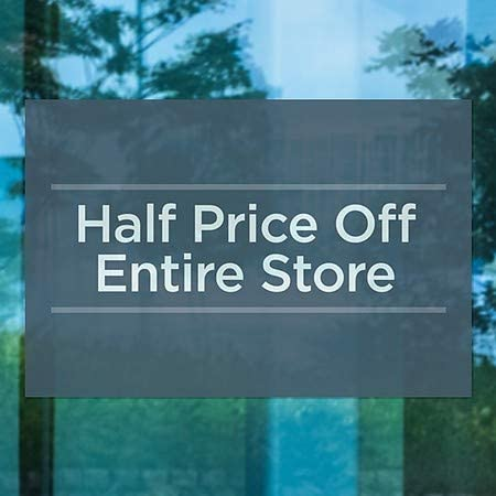 Basic Navy Window Cling 5-Pack Half Price Off Entire Store CGSignLab 36x24