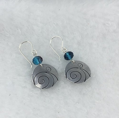 etched-wave-earrings-with-fire-polished-blue-beads