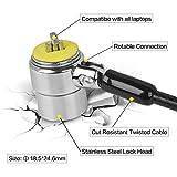 SUHOO Laptop Cable Lock, 2 Keys Stainless Steel