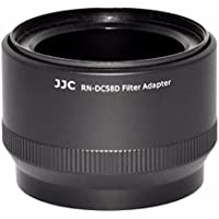 JJC RN-DC58D 58mm UV CPL Filter Thread Lens Adapter For Canon Powershot G15 G16 Replaces Canon Filter Adapter FA-DC58D