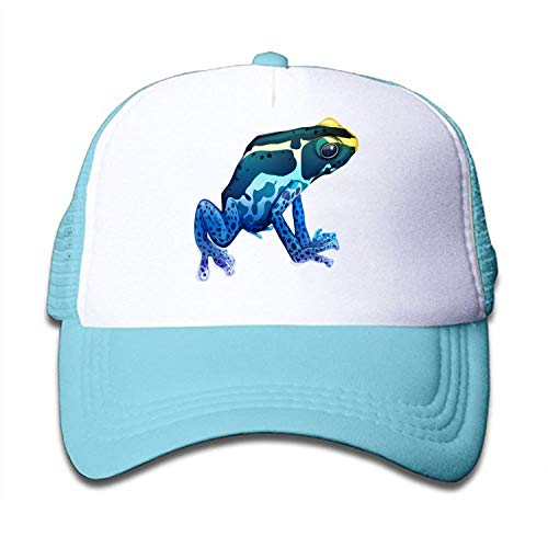 Frog Trucker Hat - HHNYL Mesh Cap Watercolor-Frogs Trucker Hats Baseball caps Adjustable Kids Toddler