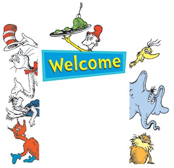 Eureka Cat In The Hat Welcome Go-Around decoration for classroom, birthday parties & more