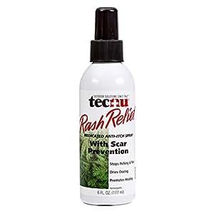 Tecnu Rash Relief Medicated Anti-itch Scar Prevention Spray Bottle, 6-Ounce
