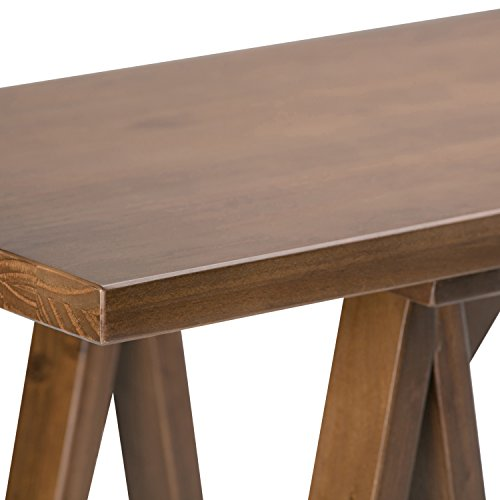 Simpli Home Sawhorse Solid Wood Wide Console Sofa Table, Medium Saddle Brown by Simpli Home (Image #2)