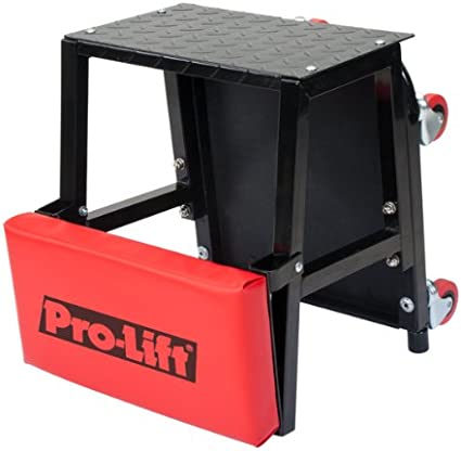 250 lbs Capacity Rolling Mechanic Creeper Seat with Onboard Storage