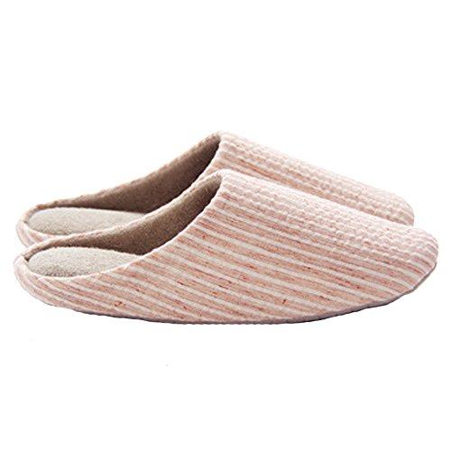 Cozy Slippers Tatami Cotton Pink for Antiskid Men Women Slipper House Winter qUxR5Pwn
