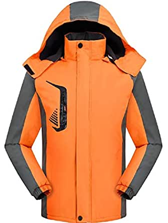 XINHEO Mens Slim Casual Tricot Lining Breathable Snowboard Jacket As Picture 2XL