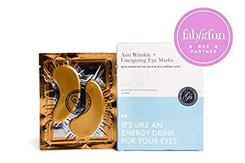 Grace & Stella Anti-Wrinkle + Energizing Gold Collagen Eye Masks | Depuffing Undereye Patches | Vegan & All-Natural (12 Pairs)