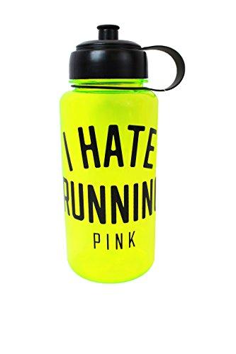 Victoria Secret PINK 'I Hate Running' Lime Green Tumbler LIMITED - Pink Victoria Tumbler Secret