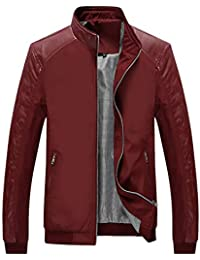 a9e3a73a20 Men s Casual Slim Lightweight Softshell Zipper Windbreakers Bomber Jacket