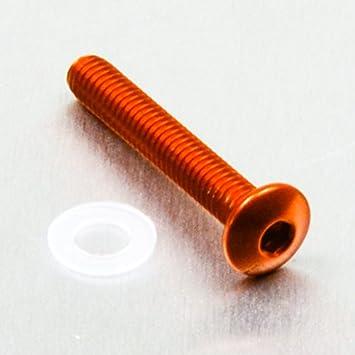 x 25mm Bleu Vis /Ã/ t/Ã/ªte bomb/Ã/©e en aluminium M4 x 0.7mm