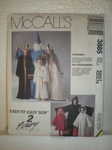 Mccall's Sewing Pattern 3885 Childs Costumes Wizard Ghost Angel King Queen Red Riding Hood (Riding Hood Costume Pattern)