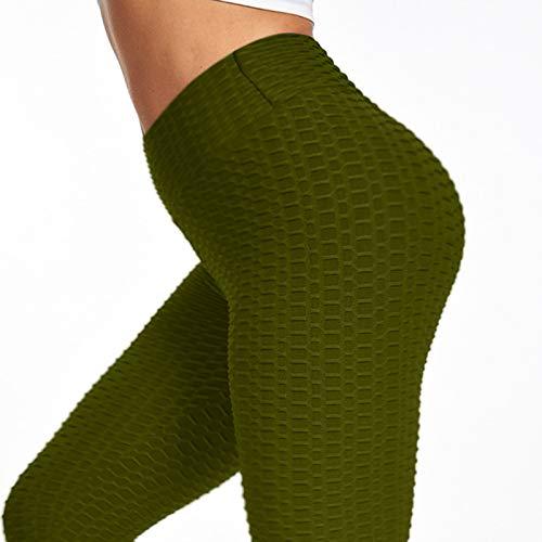 zsedc Womens Bubble Hip Butt Lifting Anti Cellulite Legging High Waist Workout Running Yoga Tights