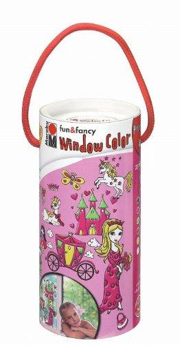 Marabu 040600121 - Window Color-Set Runddose 6x25ml Princess` World