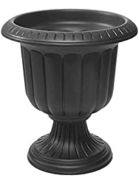 Exceptional Classic Urn Planter, Black, 19 Inch