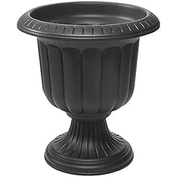 Classic Urn Planter, Black, 19-Inch