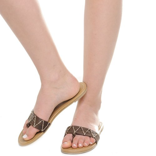 Klassifisert Amboy Kvinners Thong Sandaler Brun Brun