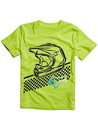 Fox Racing Kids Olathe Short-Sleeve Shirt Medium Flo Yellow (Fox Racing Girls Clothing compare prices)