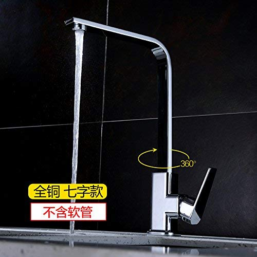 Square Plating B Ywqwdae Taps Kitchen Taps Basin Faucets Cold and Hot Water Mixer Bathroom Mixer Basin Mixer Tap Square Tube Copper Hot and Cold Single Cold Plating Wire Drawing B for Kitchen Or Bathroom Taps