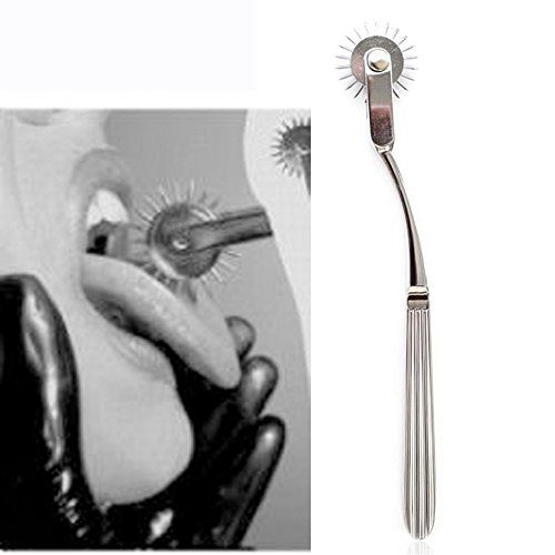 Deluxe Stainless Steel Pin Wheel Pinwheel Bondage Medical Gear Roller Rolling for Couples Bondage or Fetish Play