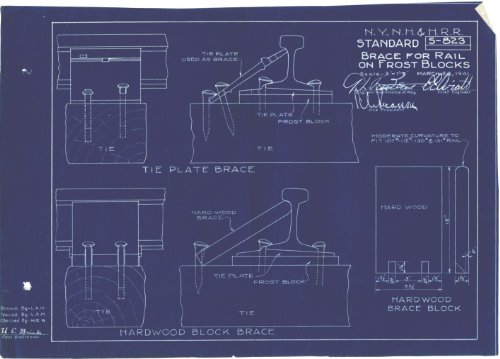 Standard Brace For Rail On Frost Blocks Blueprint (S-823) (Rail Brace)