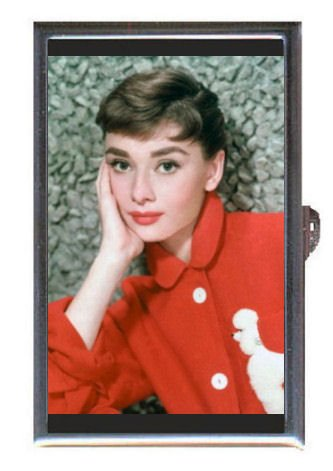 Audrey Hepburn 1954 Color Pic Guitar Pick or Pill Box USA Made (Pics Of Audrey Hepburn compare prices)