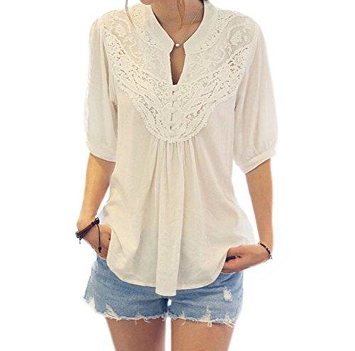 Womens Sleeve Casual Crochet Chiffon product image