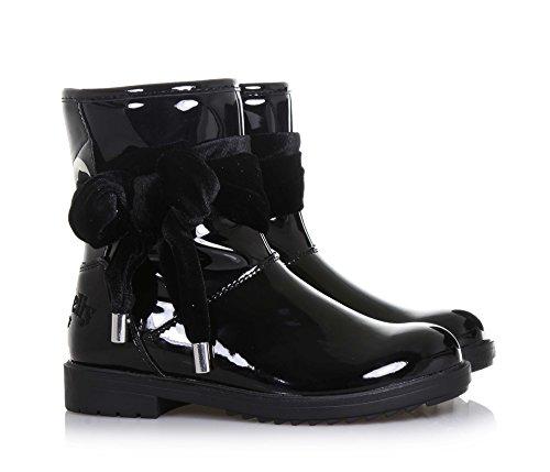 LELLI KELLY -Schwarze Stiefelette aus Lackleder, seitlich ein Reißverschluss, hinten ein genähtes Logo, Mädchen Schwarz